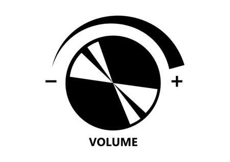 Volume button on white background