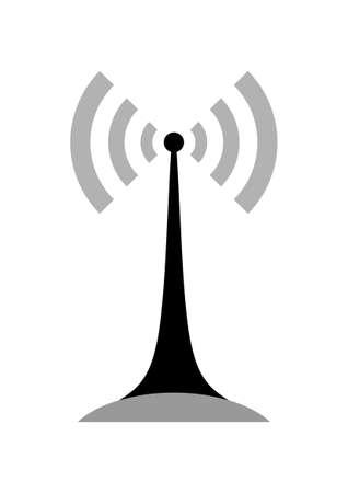 transmitter: Black transmitter icon on white background
