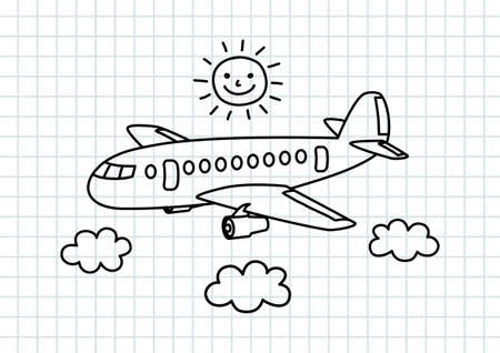 Aircraft drawing on squared paper