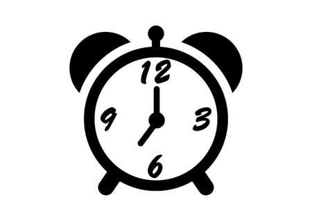 alarmclock: Alarm clock vector icon on white background