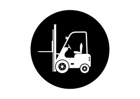 motor vehicle: Forklift truck icon