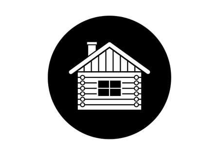 log house: Log house vector icon