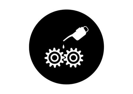 oilcan: Black and white industrial icon on white background Illustration