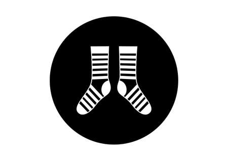 hosiery: Black and white socks
