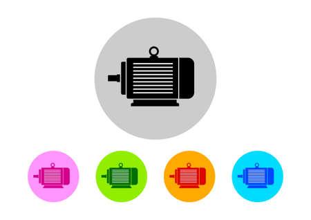 Icônes de moteurs électriques colorées