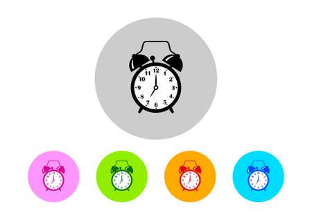 alarmclock: Colorful alarm clock icons Illustration