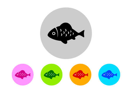 vis: Colorful fish icons