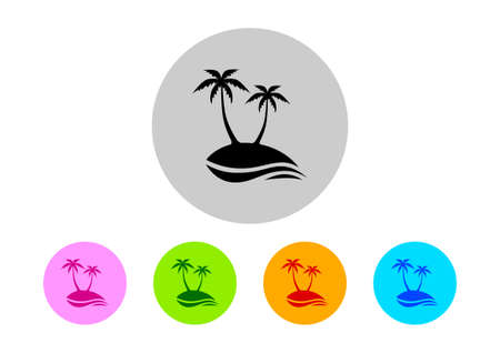on white background: Colorful island icons on white background Illustration
