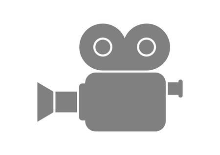 camara de cine: C�mara de pel�cula gris sobre fondo blanco