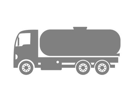 on white background: Grey truck icon on white background