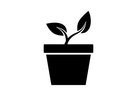 cultivating: Plant  icon on white background