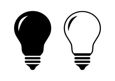 black light: Black lightbulb icons on white background
