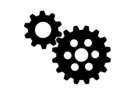 industriales: Negro icono industrial en el fondo blanco