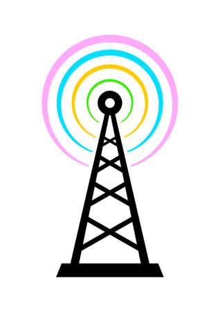 transmitter: Transmitter icon on white background Illustration