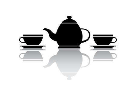 on white background: Tea vector icon on white background