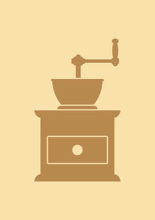coffee grinder: Coffee grinder icon Illustration
