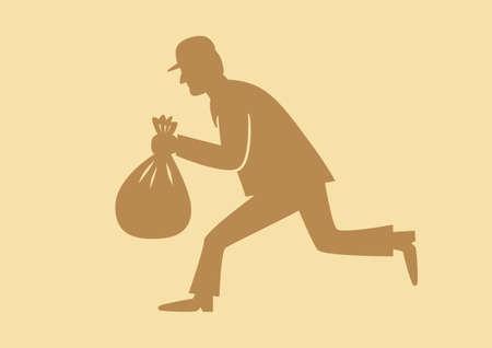 thug: Thief vector icon Illustration