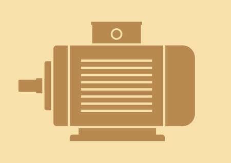 electric motor: Electric motor vector icon