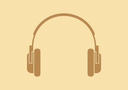 Headphones vector icon Çizim