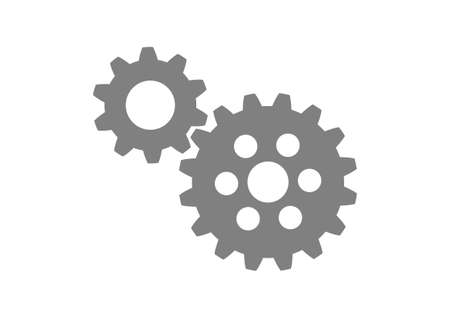 interlock: Grey industrial icon on white background Illustration