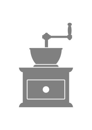 grinder: Coffee grinder on white background Illustration