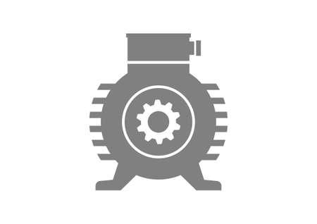 moteur électrique gris sur fond blanc Vecteurs