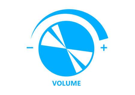volume: Volume button on white background