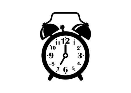 Alarm clock icon on white background