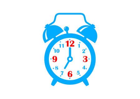 Wekker pictogram op een witte achtergrond Vector Illustratie
