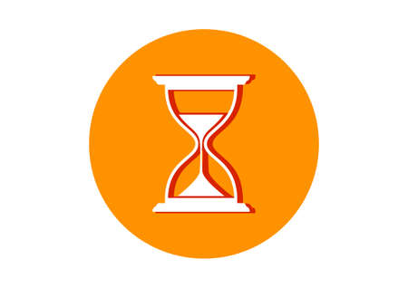 timepieces: Hourglass icon on white background