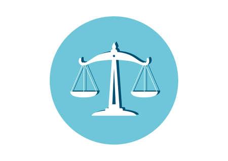 equilibrium: Scale icon on white background