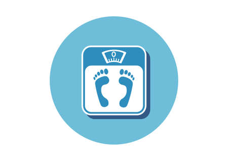 bathroom scale: Bathroom scale icon on white background