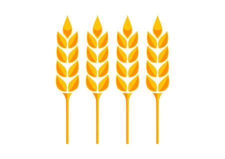 Orange cereal icon on white background