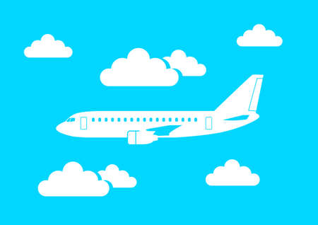 commercial airline: White aircraft