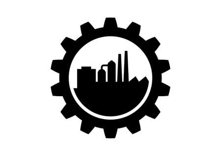 toothed: Black industrial icon on white background