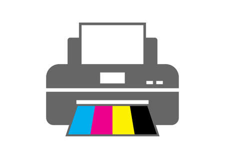 multifunction printer: Printer icon on white background