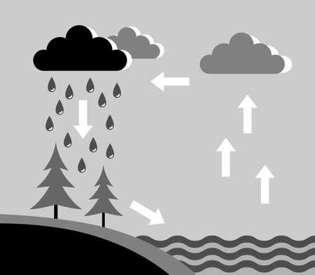 Water cycle Vektorové ilustrace