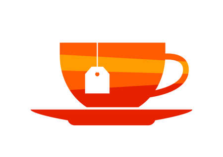 teacup: Teacup icon on white background