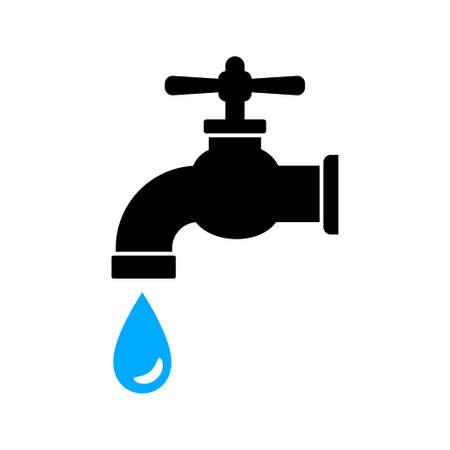Faucet icon on white background Stock Illustratie