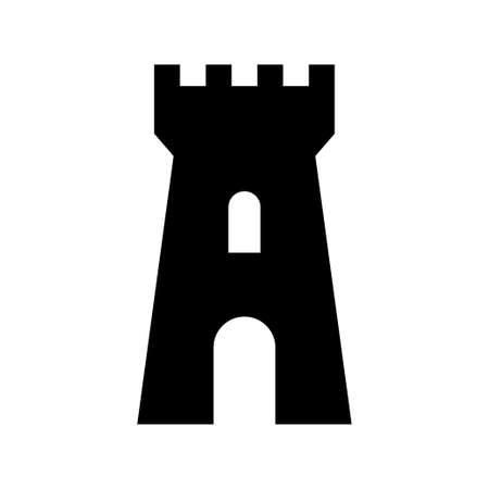 Black castle icon on white background