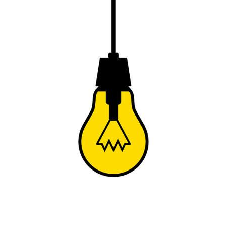 watt: Lightbulb icon on white background
