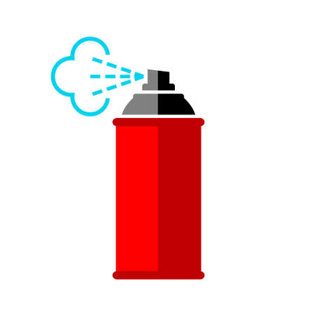 aerosol can: Red spray can icon on white background
