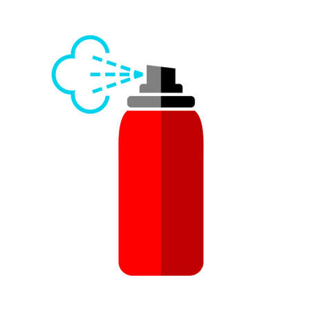 Red spray can icon on white background