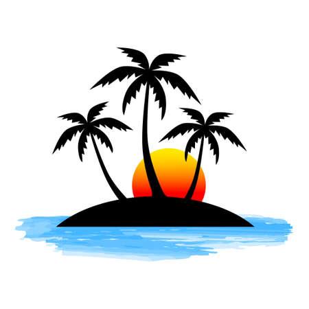Palmboom pictogram Vector Illustratie