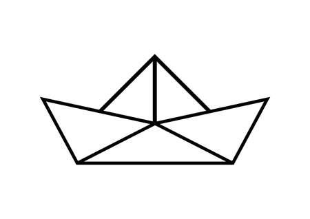 voilier de papier sur fond blanc