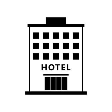 Hotel vector icon on white background