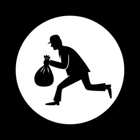 felon: Thief vector icon Illustration