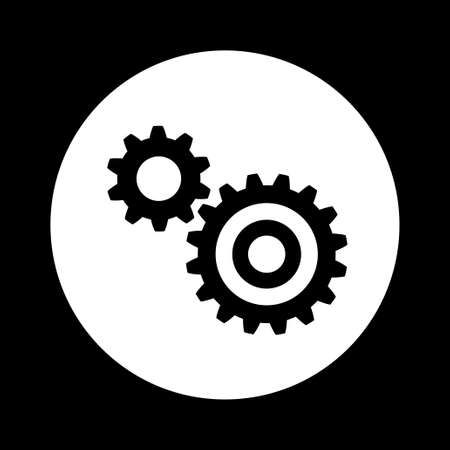 industrial icon: Black and white industrial icon