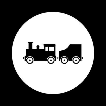 loco: Black and white train icon