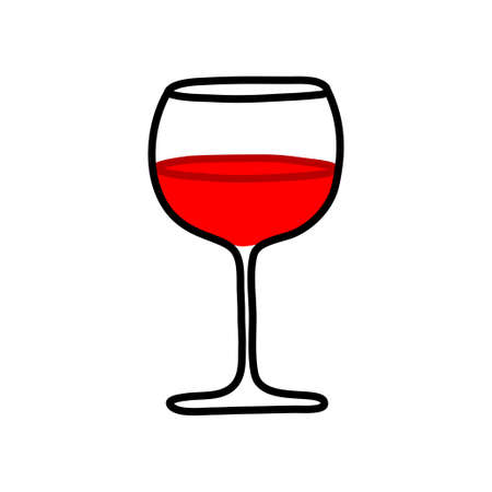 red wine glass: Glass of red wine on white background